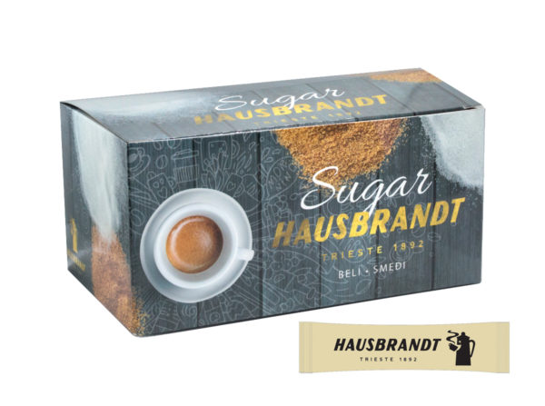 Hausbrandt secer u kesicama stapicima smedji secer za espreso kafu