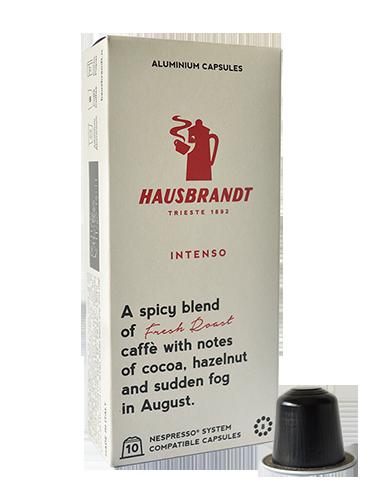 hausbrandt kapsula nespresso intenso aluminium