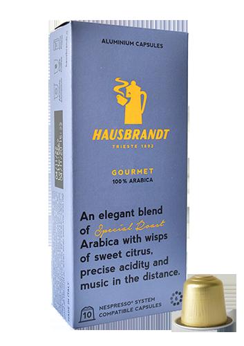 Gourmet hausbrandt nespresso capusla aluminium