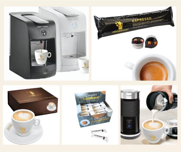 paket 4 hausbrandt espresso guzzini